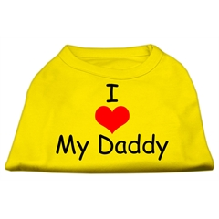 Mirage Pet Products I Love My Daddy Screen Print Shirts Yellow Lg (14)