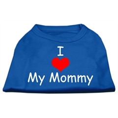 Mirage Pet Products I Love My Mommy Screen Print Shirts Blue Med (12)