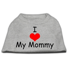Mirage Pet Products I Love My Mommy Screen Print Shirts Grey Med (12)