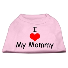 Mirage Pet Products I Love My Mommy Screen Print Shirts Pink XS (8)
