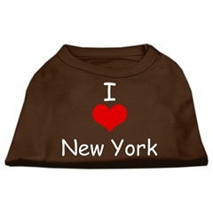 Mirage Pet Products I Love New York Screen Print Shirts Brown XXL (18)