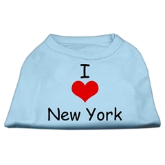 Mirage Pet Products I Love New York Screen Print Shirts Baby Blue XXL (18)