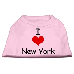 Mirage Pet Products I Love New York Screen Print Shirts Pink XXXL (20)