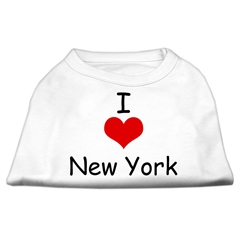 Mirage Pet Products I Love New York Screen Print Shirts White XS (8)