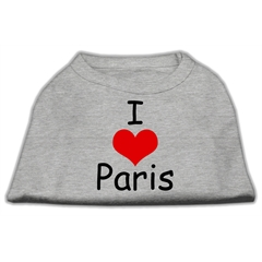 Mirage Pet Products I Love Paris Screen Print Shirts Grey Med (12)
