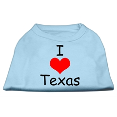Mirage Pet Products I Love Texas Screen Print Shirts Baby Blue Med (12)