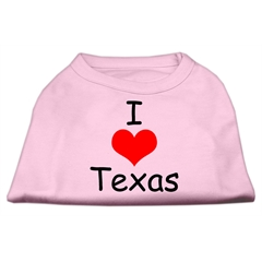 Mirage Pet Products I Love Texas Screen Print Shirts Light Pink Med (12)
