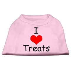 Mirage Pet Products I Love Treats Screen Print Shirts Pink XXL (18)