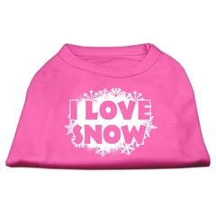 Mirage Pet Products I Love Snow Screenprint Shirts Bright Pink S (10)