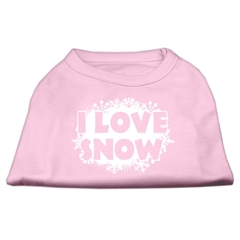 Mirage Pet Products I Love Snow Screenprint Shirts Light Pink S (10)