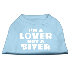 Mirage Pet Products I'm a Lover not a Biter Screen Printed Dog Shirt   Baby Blue XL (16)