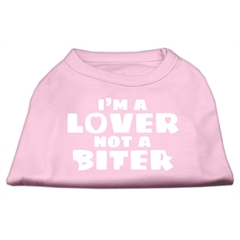 Mirage Pet Products I'm a Lover not a Biter Screen Printed Dog Shirt   Light Pink XXXL (20)