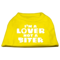 Mirage Pet Products I'm a Lover not a Biter Screen Printed Dog Shirt Yellow Sm (10)