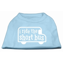 Mirage Pet Products I ride the short bus Screen Print Shirt Baby Blue XXL (18)