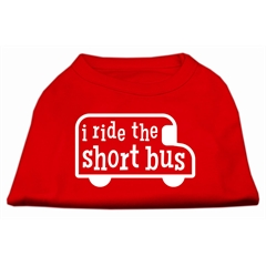 Mirage Pet Products I ride the short bus Screen Print Shirt Red S (10)