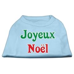 Mirage Pet Products Joyeux Noel Screen Print Shirts Baby Blue XL (16)