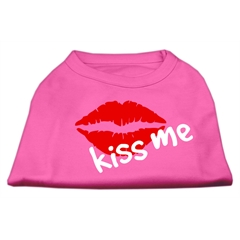 Mirage Pet Products Kiss Me Screen Print Shirt Bright Pink XXXL (20)