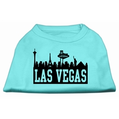 Mirage Pet Products Las Vegas Skyline Screen Print Shirt Aqua Sm (10)