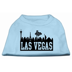 Mirage Pet Products Las Vegas Skyline Screen Print Shirt Baby Blue XS (8)