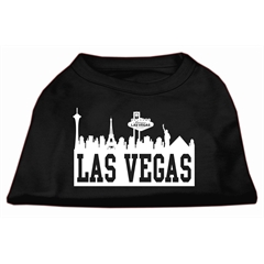Mirage Pet Products Las Vegas Skyline Screen Print Shirt Black Lg (14)