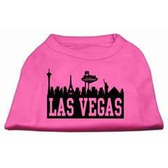 Mirage Pet Products Las Vegas Skyline Screen Print Shirt Bright Pink XXXL (20)