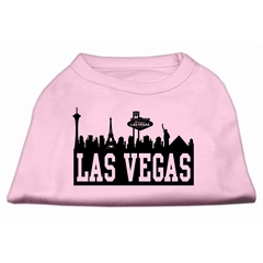 Mirage Pet Products Las Vegas Skyline Screen Print Shirt Light Pink Med (12)