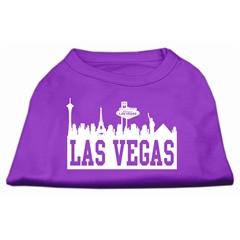Mirage Pet Products Las Vegas Skyline Screen Print Shirt Purple XS (8)