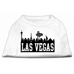 Mirage Pet Products Las Vegas Skyline Screen Print Shirt White Med (12)