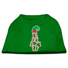 Mirage Pet Products Lazy Elf Screen Print Pet Shirt Emerald Green XS (8)
