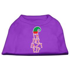 Mirage Pet Products Lazy Elf Screen Print Pet Shirt Purple XS (8)