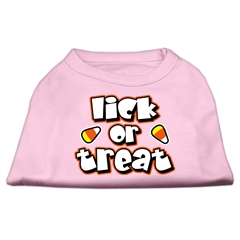 Mirage Pet Products Lick Or Treat Screen Print Shirts Light Pink M (12)