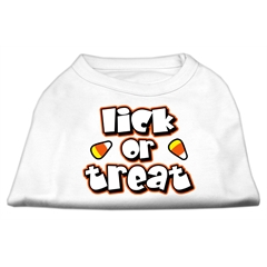 Mirage Pet Products Lick Or Treat Screen Print Shirts White S (10)