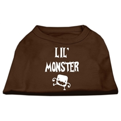 Mirage Pet Products Lil Monster Screen Print Shirts Brown XS (8)