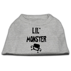 Mirage Pet Products Lil Monster Screen Print Shirts Grey Sm (10)