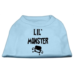 Mirage Pet Products Lil Monster Screen Print Shirts Baby Blue Med (12)