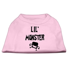 Mirage Pet Products Lil Monster Screen Print Shirts Pink XL (16)