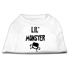Mirage Pet Products Lil Monster Screen Print Shirts White Lg (14)