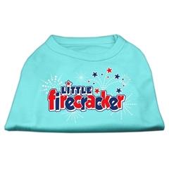 Mirage Pet Products Little Firecracker Screen Print Shirts Aqua L (14)