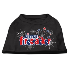 Mirage Pet Products Little Firecracker Screen Print Shirts Black XXL (18)