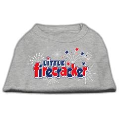 Mirage Pet Products Little Firecracker Screen Print Shirts Grey XL (16)