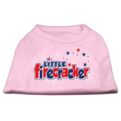 Mirage Pet Products Little Firecracker Screen Print Shirts Light Pink XXL (18)