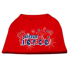 Mirage Pet Products Little Firecracker Screen Print Shirts Red M (12)