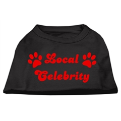 Mirage Pet Products Local Celebrity Screen Print Shirts Black  XXL (18)