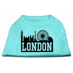 Mirage Pet Products London Skyline Screen Print Shirt Aqua XS (8)