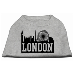 Mirage Pet Products London Skyline Screen Print Shirt Grey XXL (18)
