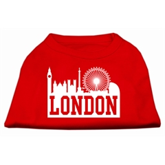 Mirage Pet Products London Skyline Screen Print Shirt Red XS (8)