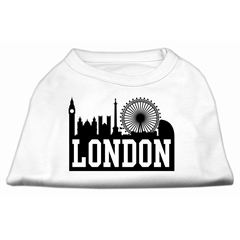 Mirage Pet Products London Skyline Screen Print Shirt White Med (12)