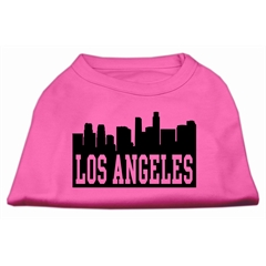 Mirage Pet Products Los Angeles Skyline Screen Print Shirt Bright Pink Sm (10)