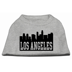 Mirage Pet Products Los Angeles Skyline Screen Print Shirt Grey XXXL (20)