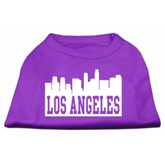 Mirage Pet Products Los Angeles Skyline Screen Print Shirt Purple XS (8)